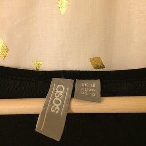 ASOS Curve Pants - ASOS Curve 3/4 Sleeve Lace Black Romper